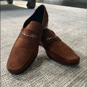 Bruno Magli Brown Suede Loafers - Made in Italy